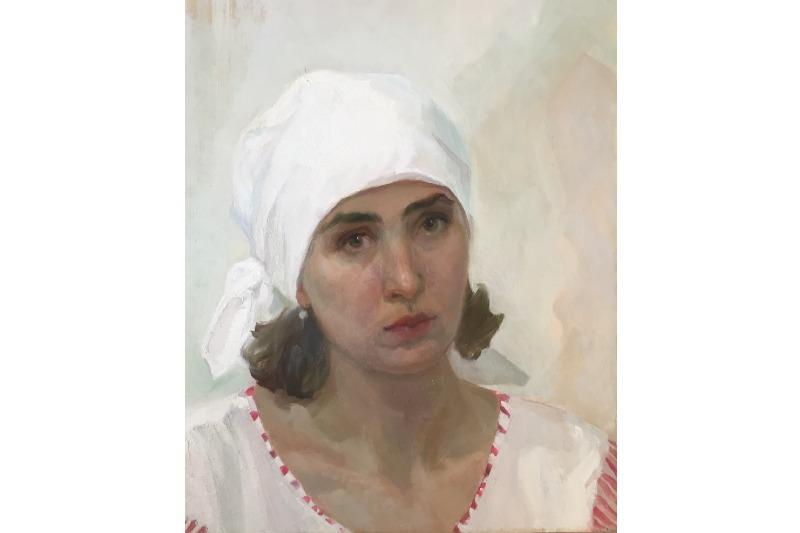 Елена Саяпина. «Автопортрет».1996 г.