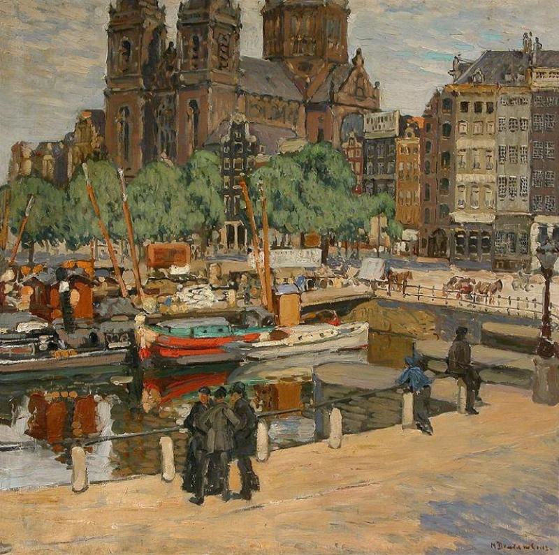Демьянов М.А. Пейзаж города (Амстердам)1912