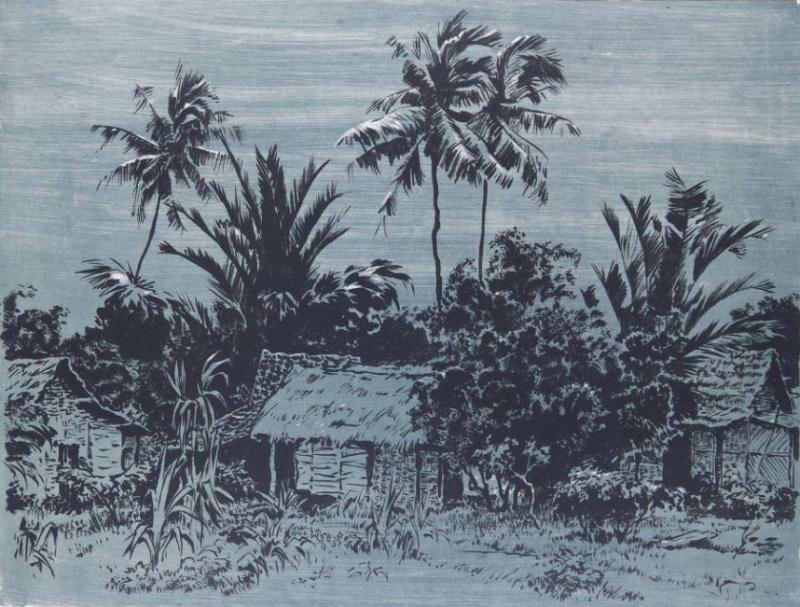 Калита Н.И. В индонезийской деревне. 1960