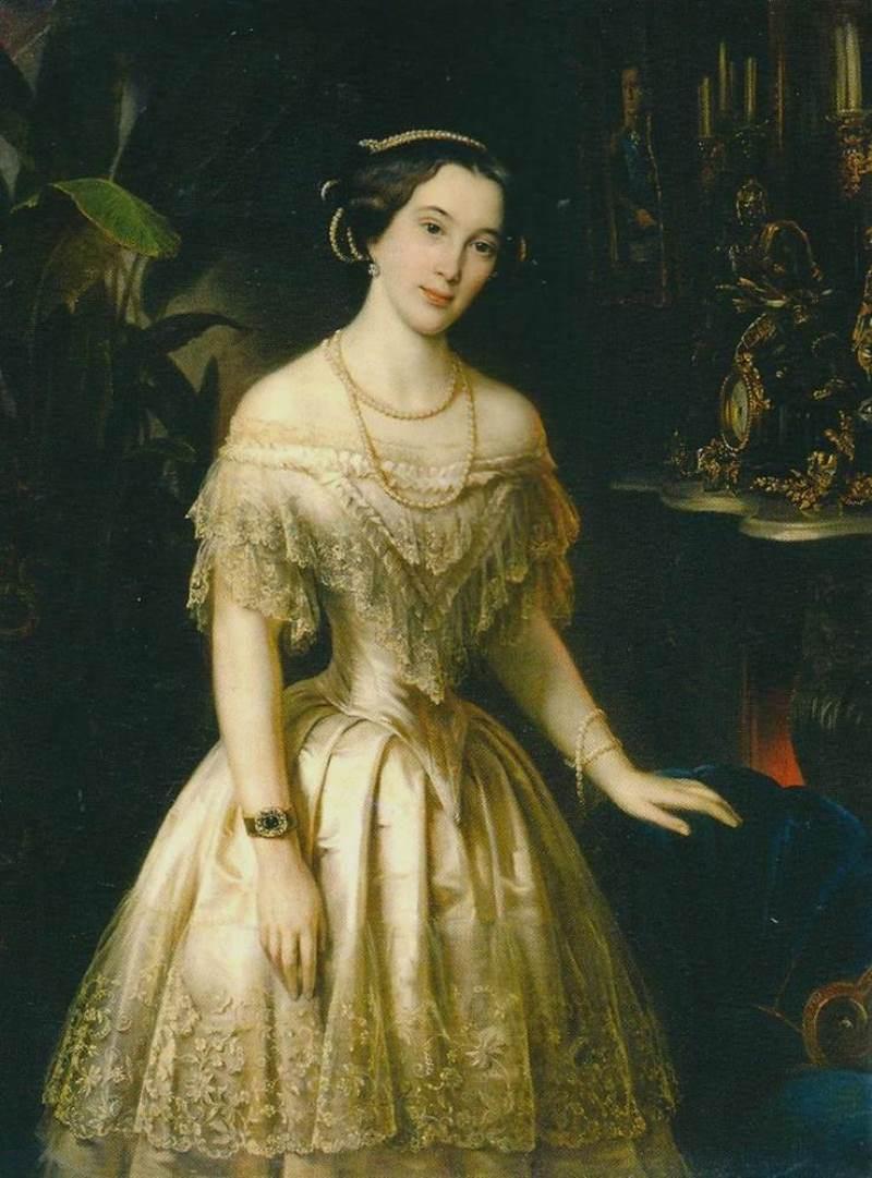 Т. А. Нефф. «Портрет Юлии Алексеевны Штиглиц, урождённой Грейг». 1852 г.