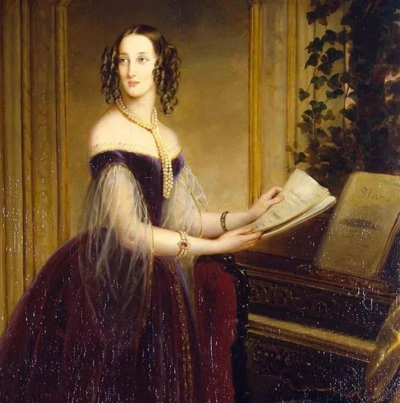 Неизвестный художник. Фрагмент портрета великой княгини Марии Николаевны. 1850-е гг.