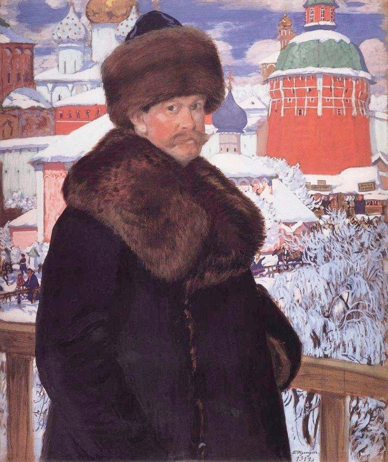 Кустодиев Автопортрет