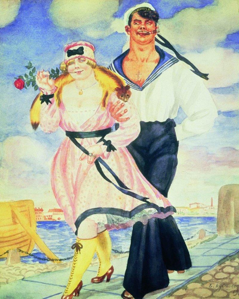 Кустодиев Матрос и милая
