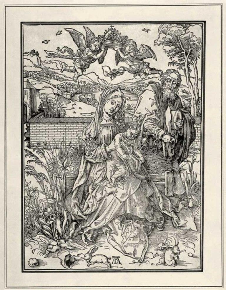 А. Дюрер. «Святое семейство с тремя зайцами». 1497 г.