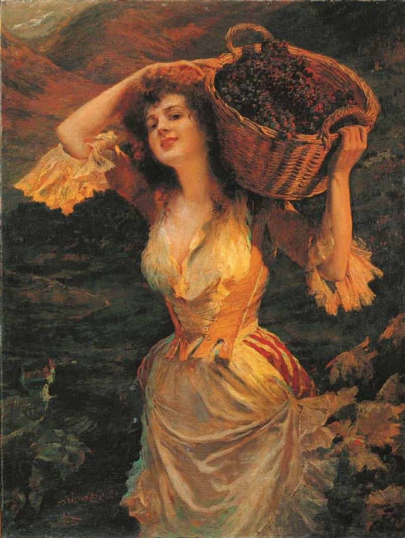 Л. Шмуцлер. «Девушка с корзиной винограда». 1890 г.