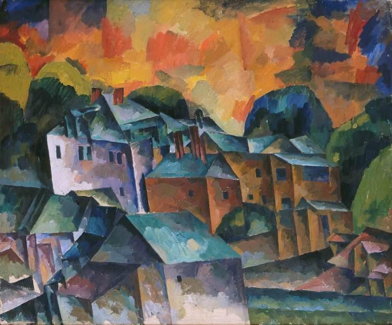 А. Лентулов. «Пейзаж». 1920 г.