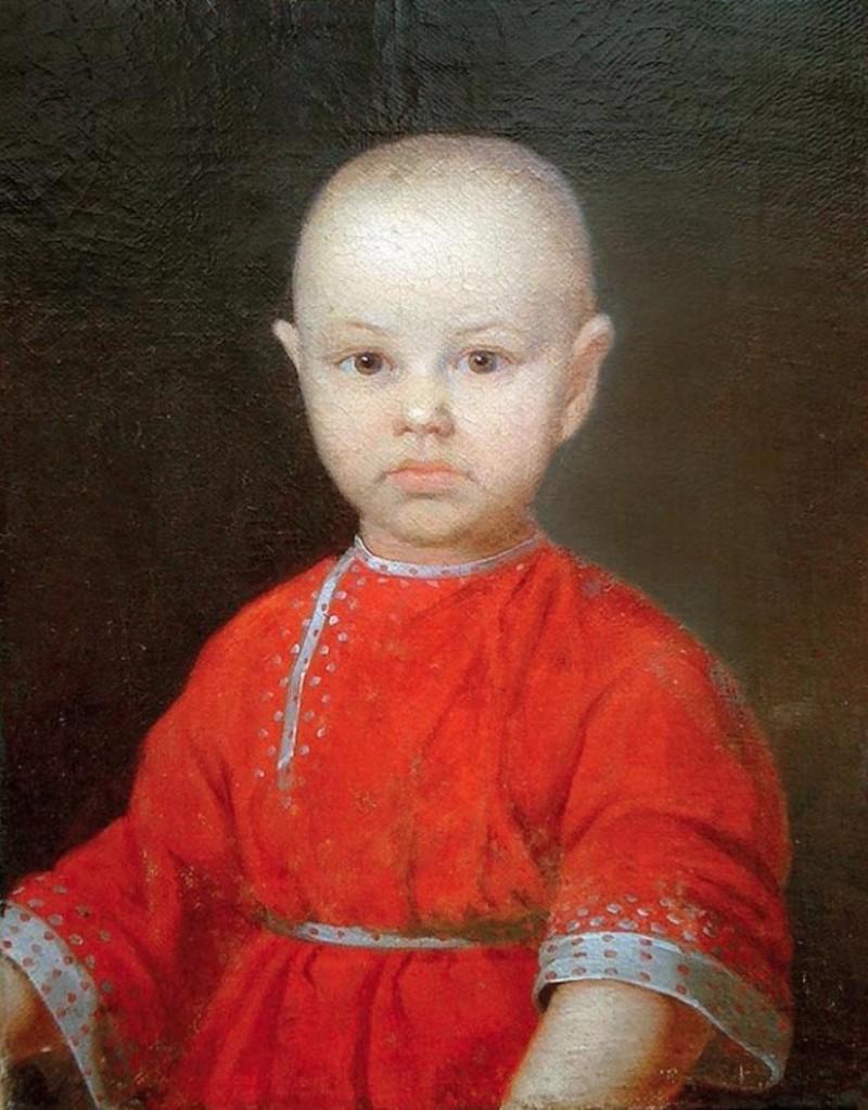 Портрет мальчика в красной косоворотке