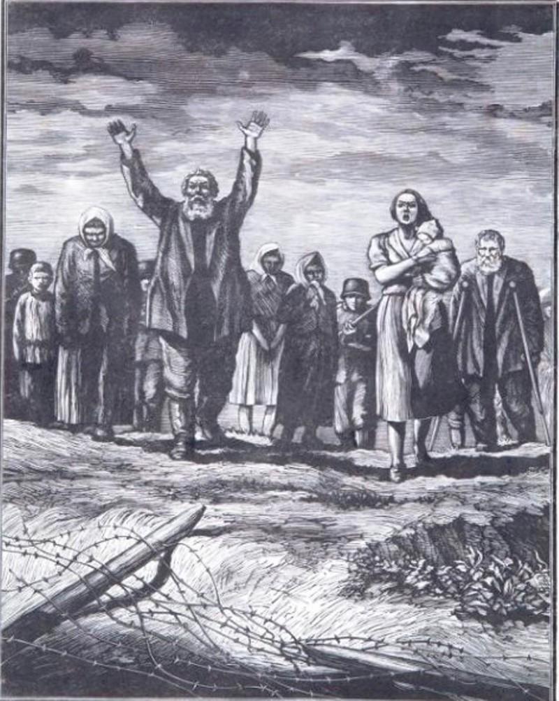 Михаил Иванович Поляков «За живой стеной»
