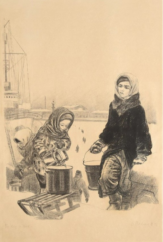 Алексей Фёдорович Пахомов «На Неву за водой»