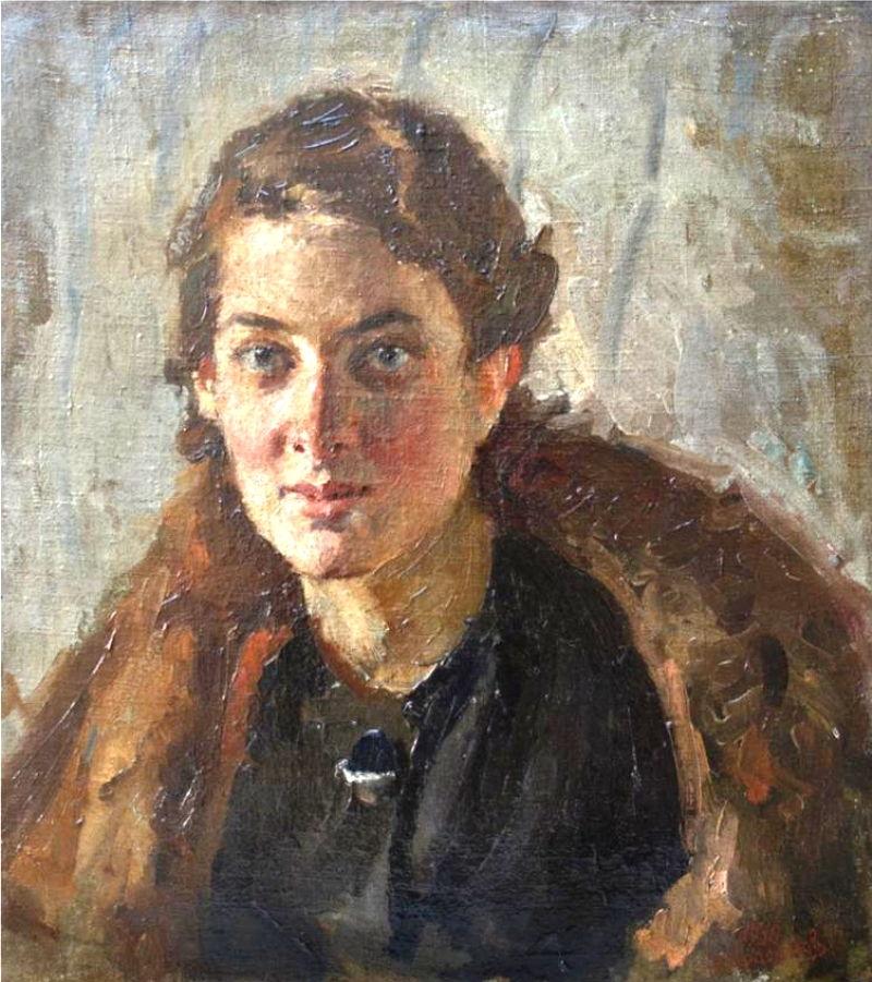 С. В. Герасимов. «Портрет молодой женщины». 1936 г.