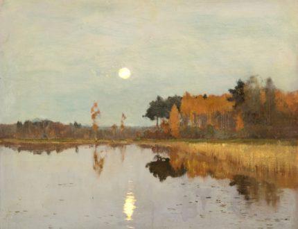 И. И. Левитан И. «Сумерки. Луна». 1899 г.
